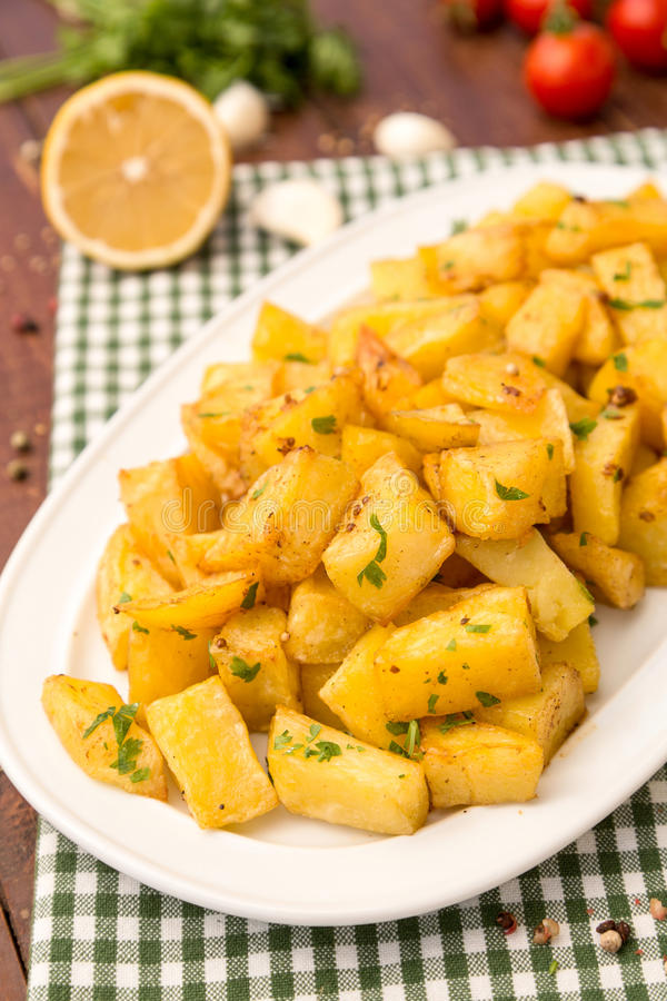 Lebanese spiced potatoes royalty free stock photography