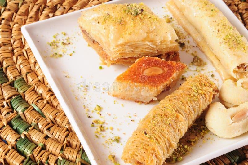 Lebanese sweets royalty free stock image