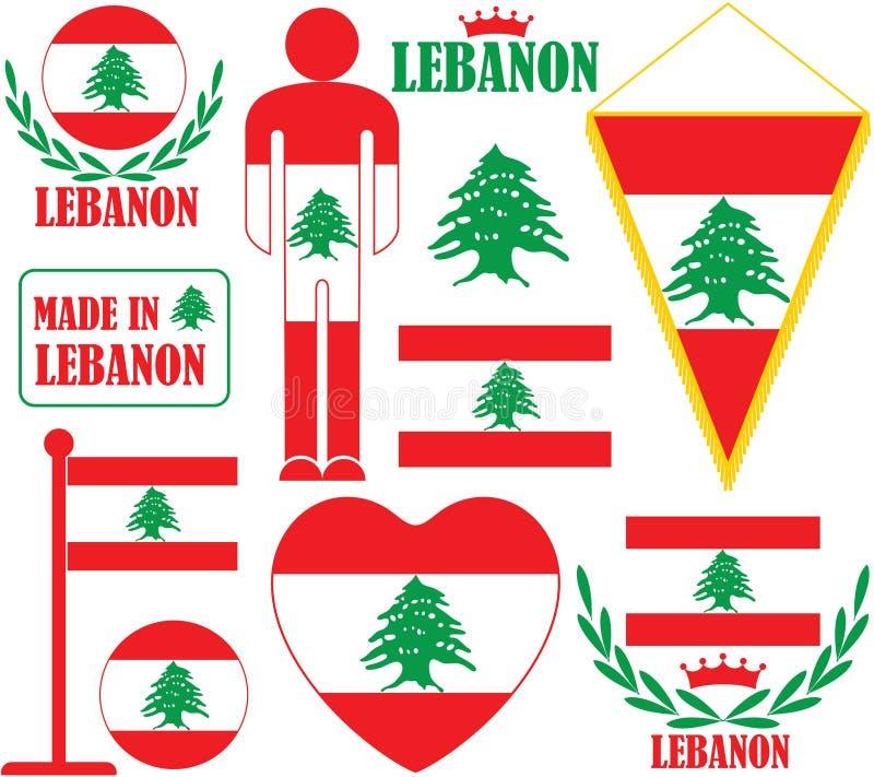 lebanon royaltyfri illustrationer
