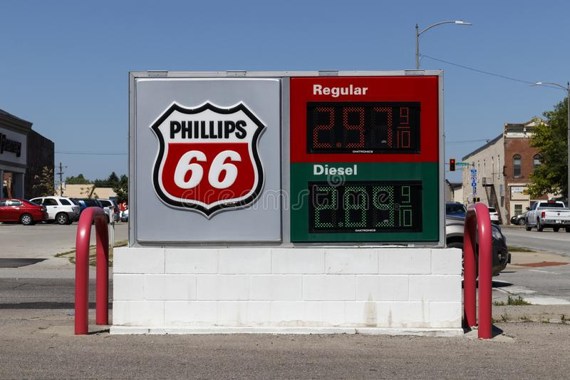 Phillips 66 Company Retail Location. Phillips 66 is an American Energy Company I stock photography