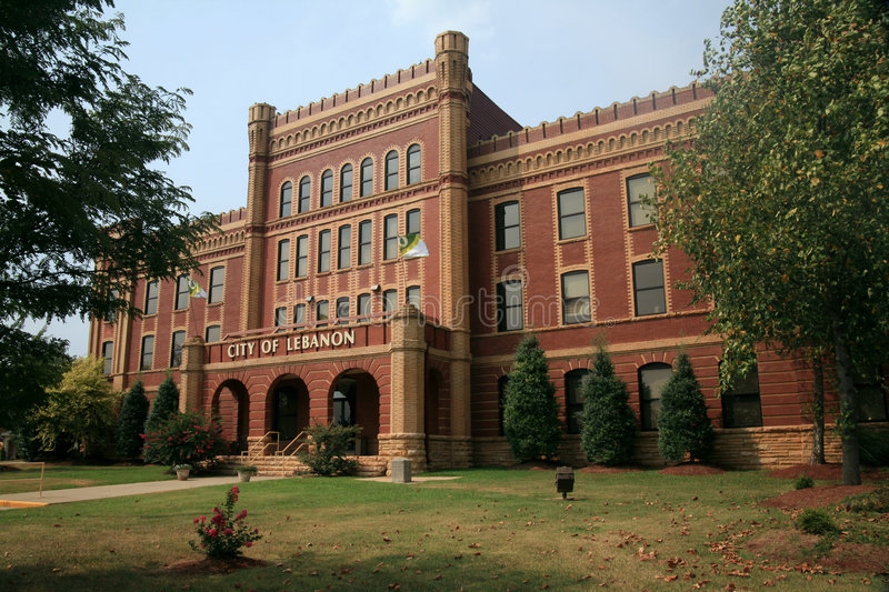 Lebanon City Hall Tennessee royalty free stock images