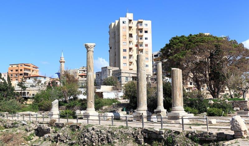 lebanon däck royaltyfri fotografi