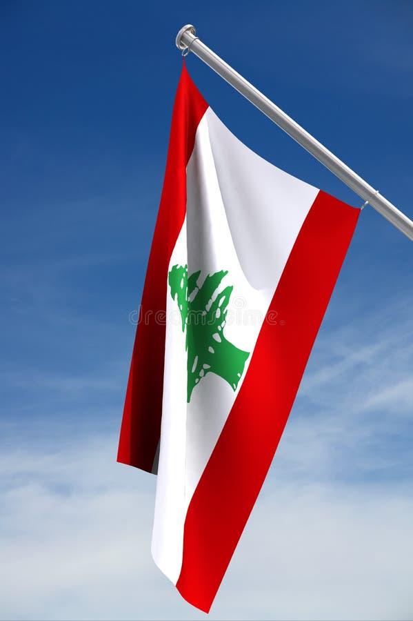 Lebanon Flag royalty free illustration