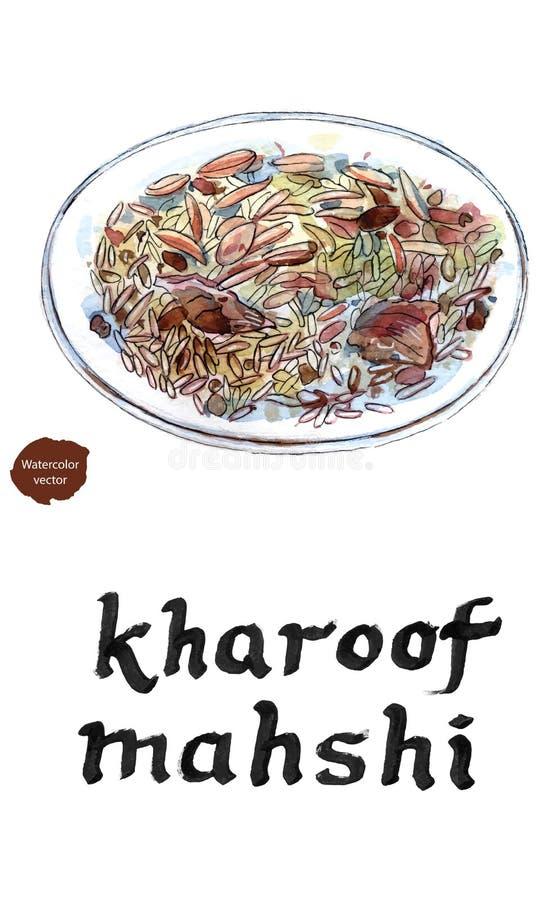lebanon jedzenie royalty ilustracja