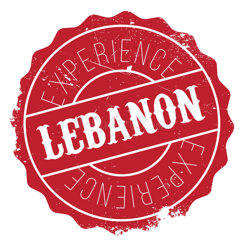 Lebanon stamp rubber grunge. Lebanon stamp. Grunge design with dust scratches. Effects can be easily removed for a clean, crisp look. Color is easily changed royalty free illustration