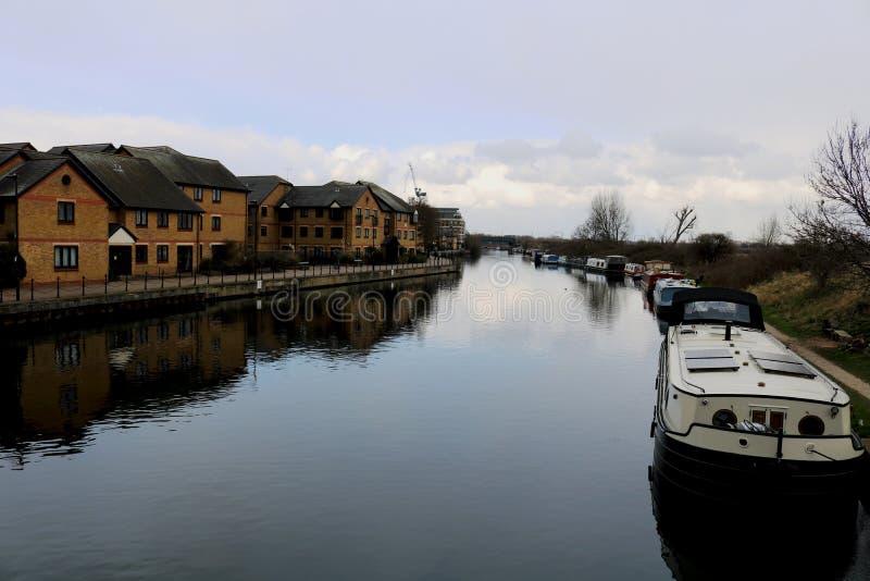 Leben auf dem Boot in London stockfotos
