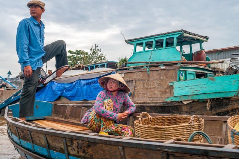 Leben Auf Dem Mekong Redaktionelles Stockfoto
