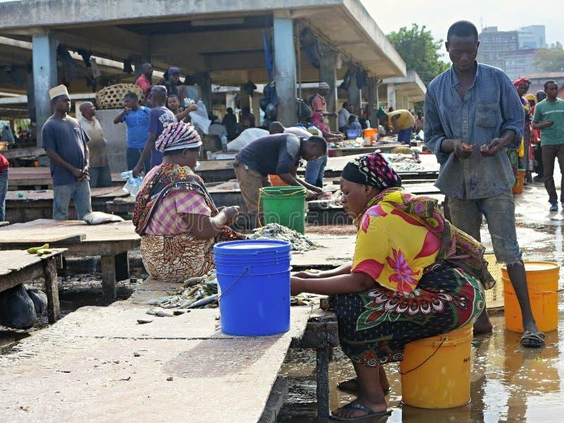 Leben in erstaunlichem schwarzem Afrika stockbilder
