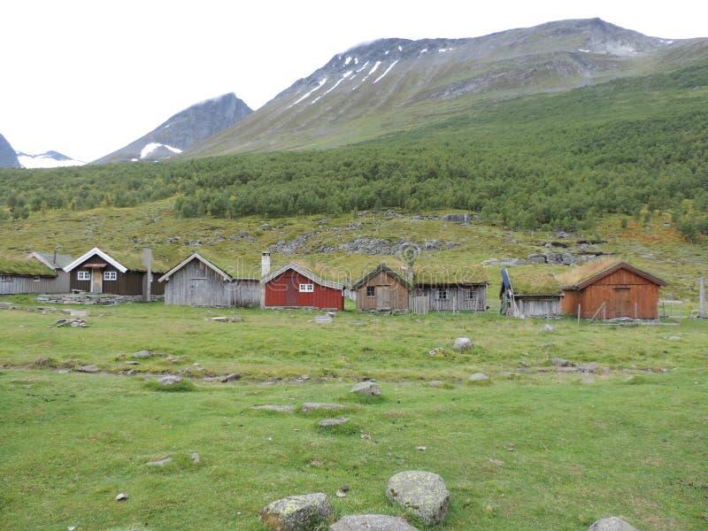 Leben in Geiranger, Norwegen stockfotografie