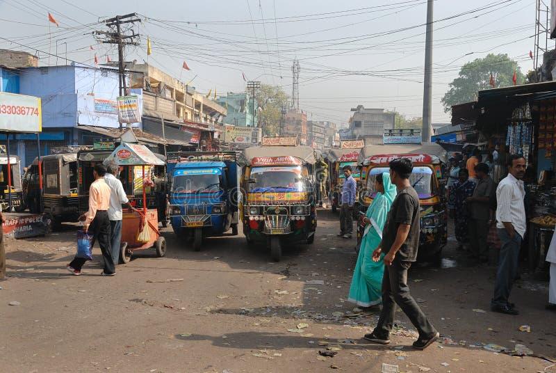 Leben im Jharia Kohlenbergwerkbereich bei Indien lizenzfreie stockbilder