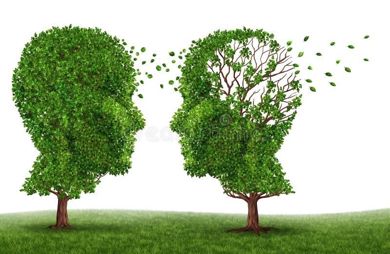 Leben mit einem Demenz-Patienten lizenzfreie abbildung