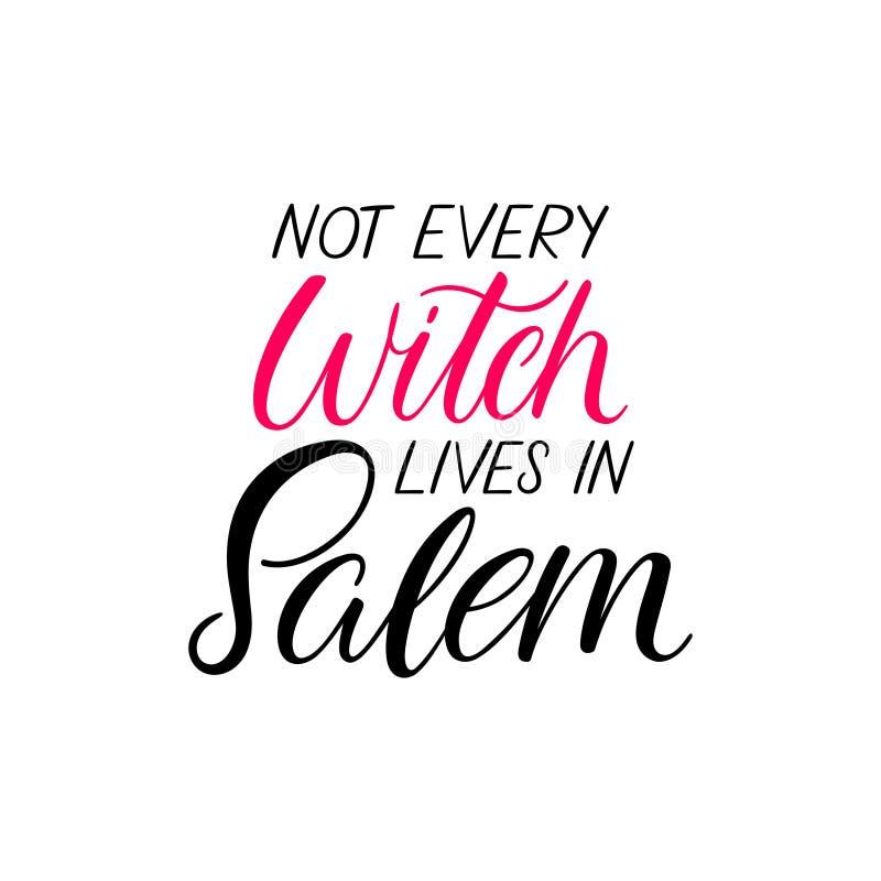Leben nicht jeder Hexe in Salem lizenzfreie abbildung