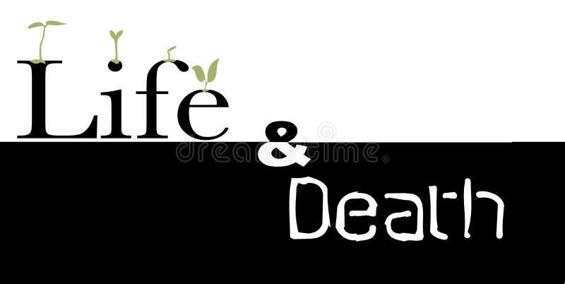 Leben oder Tod vektor abbildung