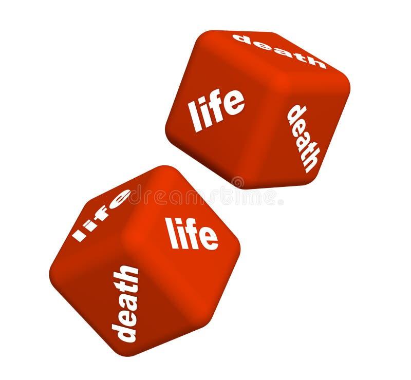 Leben oder Tod stock abbildung