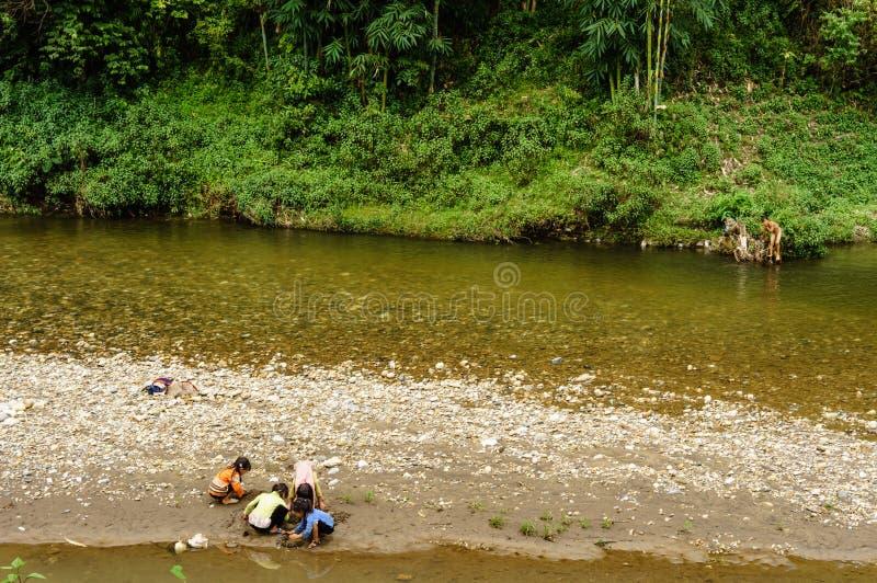 Leben in Sapa-Viet Nam lizenzfreie stockfotos
