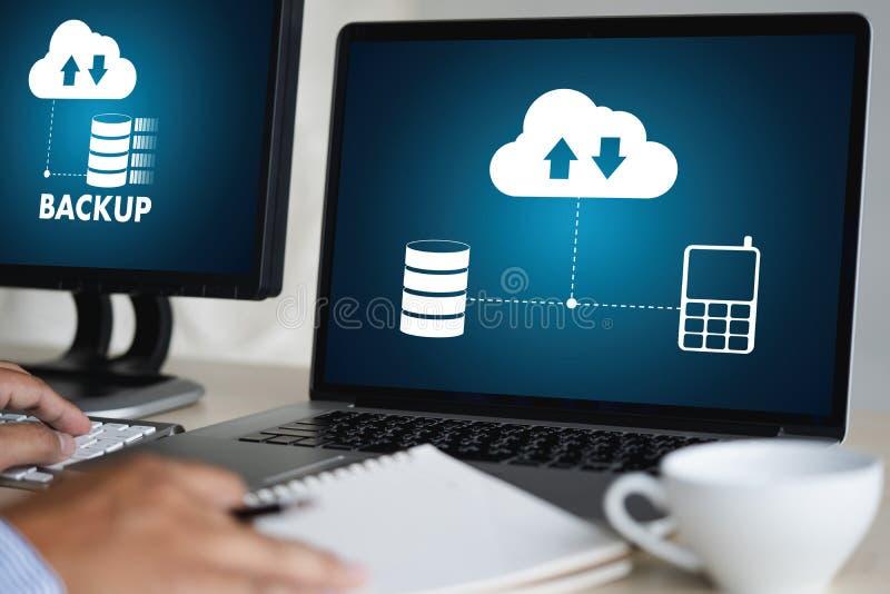 LEBEN Sie, das Ersatzdownload STRÖMEND, das Digital-Daten transferri berechnet stockbild