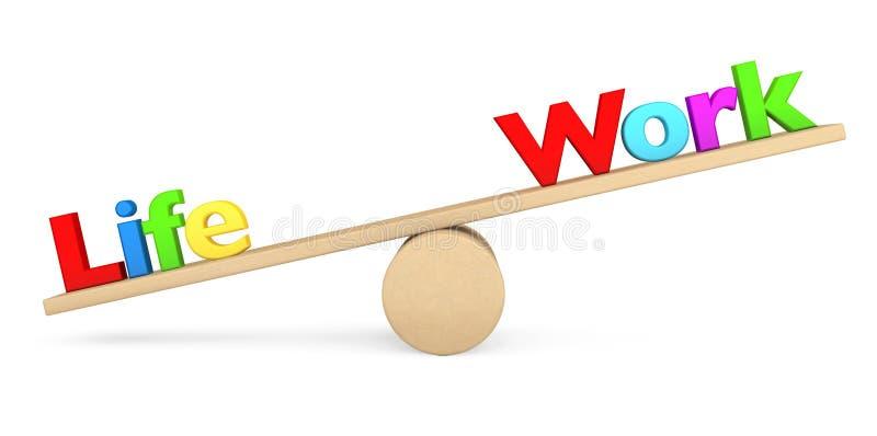 Leben- und Arbeitsbalancenkonzept lizenzfreies stockbild