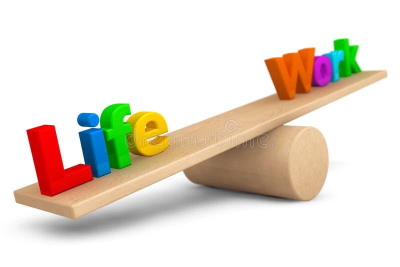 Leben- und Arbeitsbalancenkonzept lizenzfreie stockfotografie