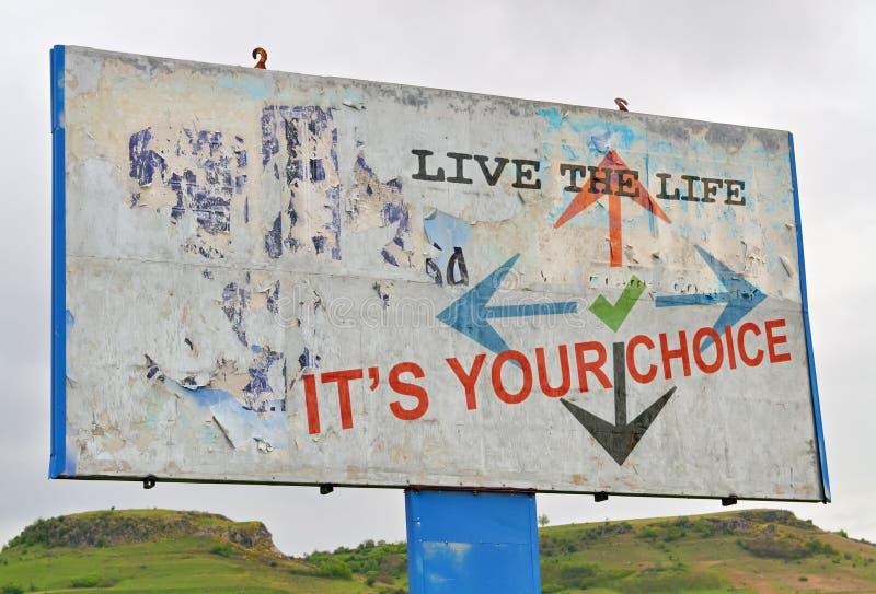 Leben-Wahlen stockfotografie