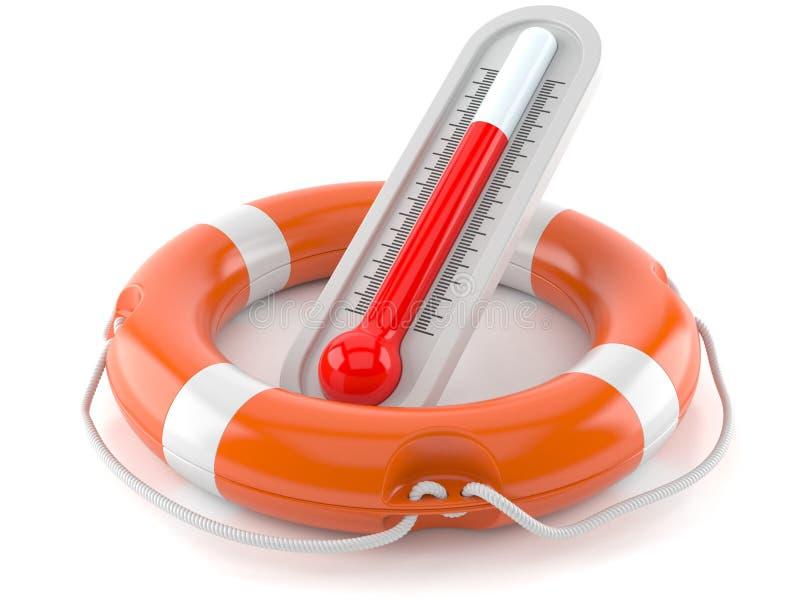 Lebenboje mit Thermometer stock abbildung