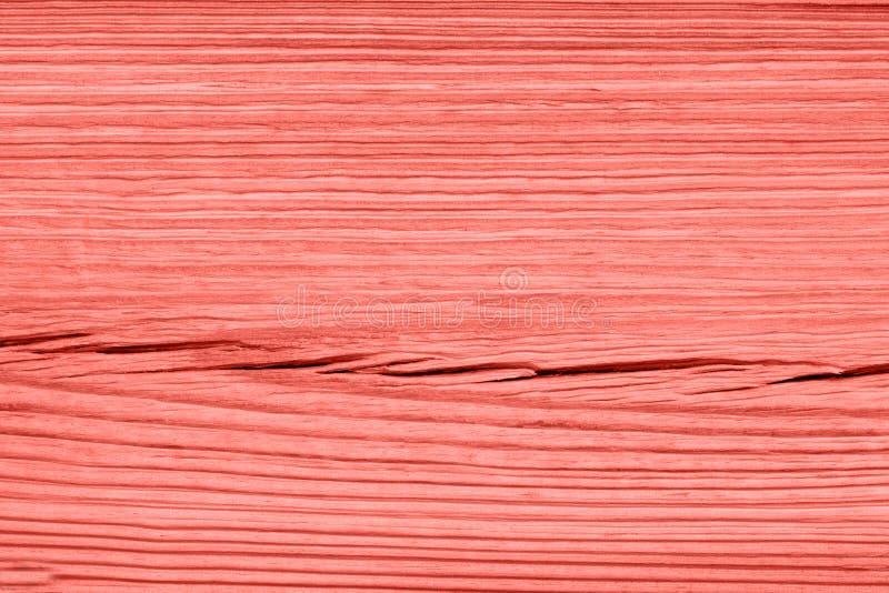 Lebende korallenrote hölzerne Beschaffenheit der Weinlese entziehen Sie Hintergrund lizenzfreies stockbild