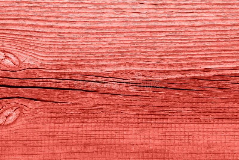 Lebende korallenrote hölzerne Beschaffenheit der Weinlese entziehen Sie Hintergrund stockfotos