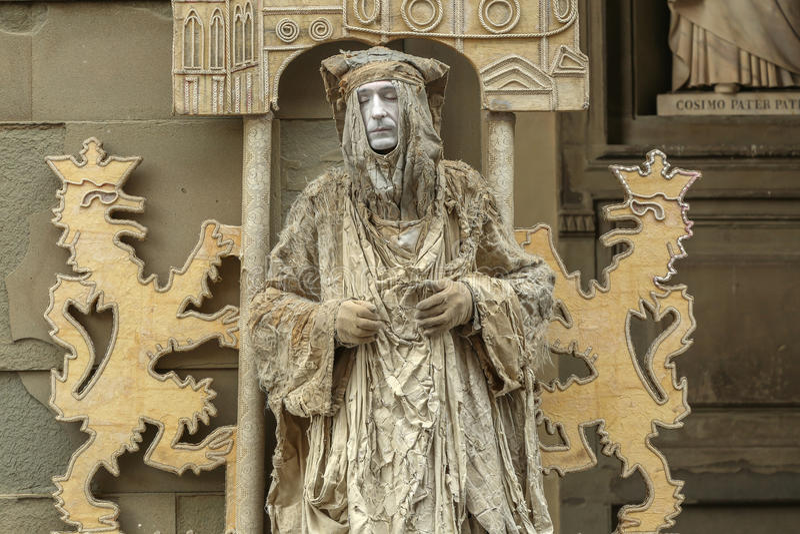 Lebende Statue lizenzfreie stockbilder