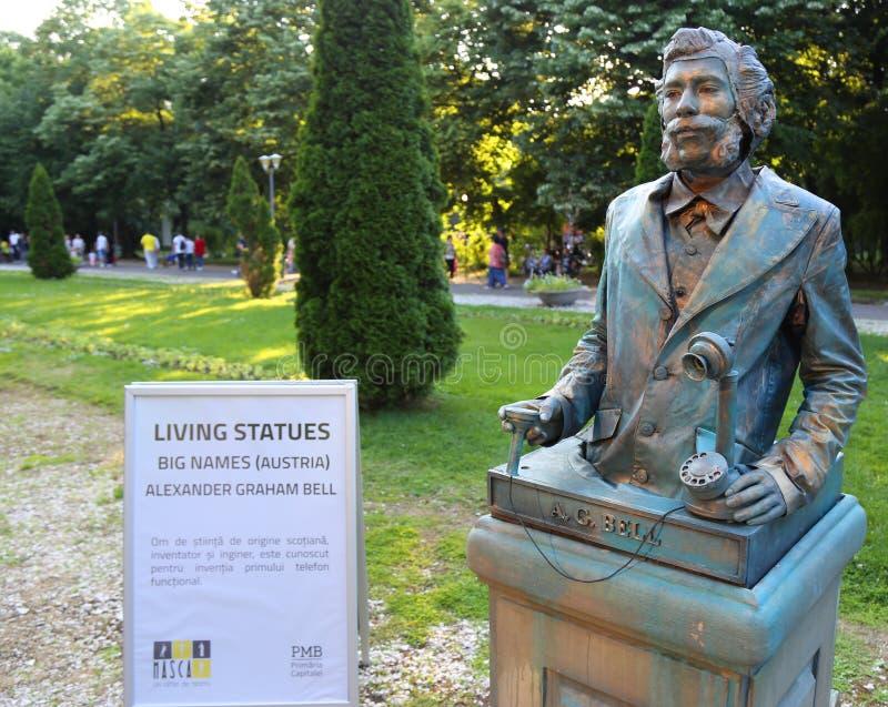 Lebende Statue - Alexander Graham Bell lizenzfreie stockfotos