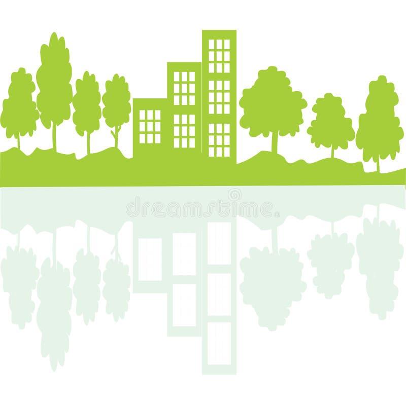 Lebendes Konzept Eco im Spiegel stock abbildung
