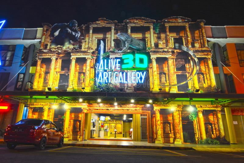 Lebendiges 3D Art Gallery lizenzfreie stockfotografie