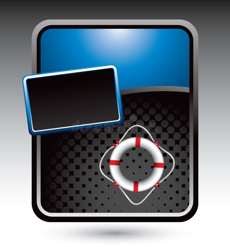 Lebenring auf blauer stilisiert Fahne vektor abbildung