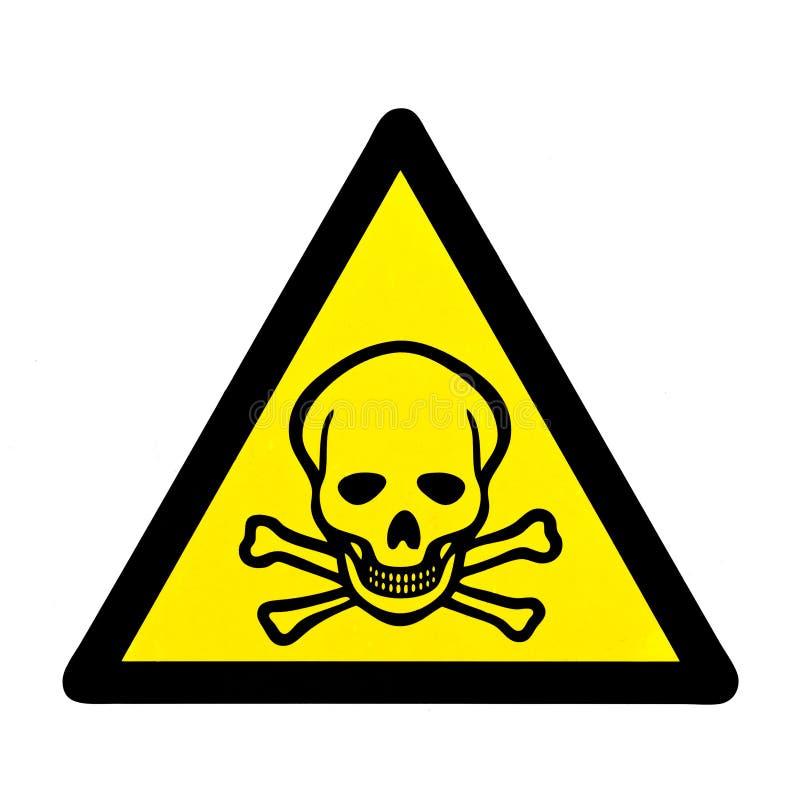 Lebensgefahr Schädel und Warnzeichen der gekreuzten Knochen lizenzfreie stockfotografie