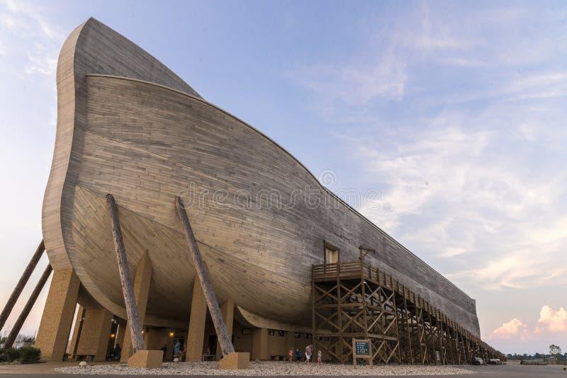 Lebensgroße Noahs-Arche stockfoto