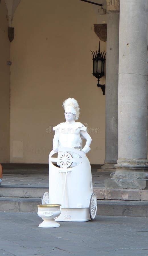 Lebenskulpturen in Lucca, Italien stockfotografie