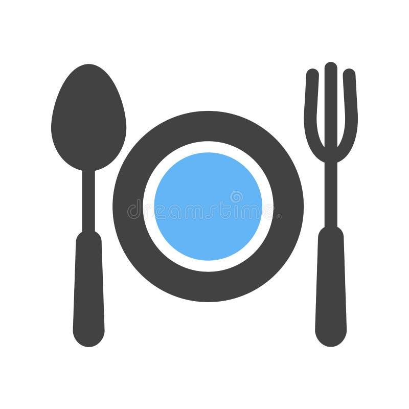 Lebensmittel, Abendessen, Diät stock abbildung