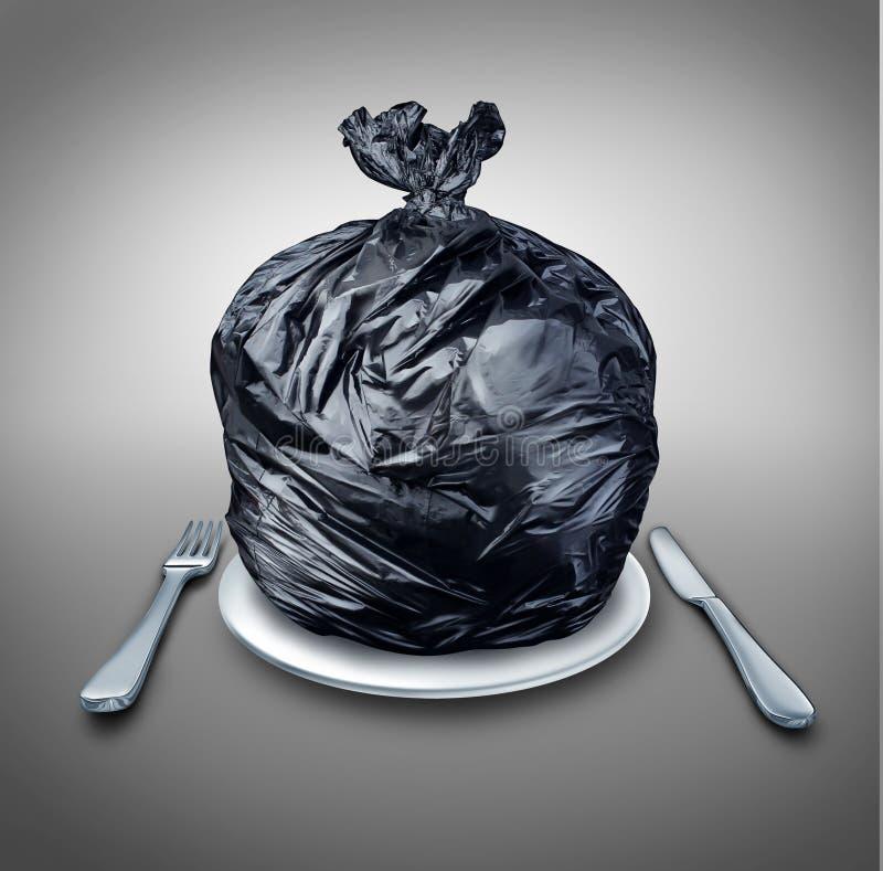 Lebensmittel-Abfall lizenzfreie abbildung