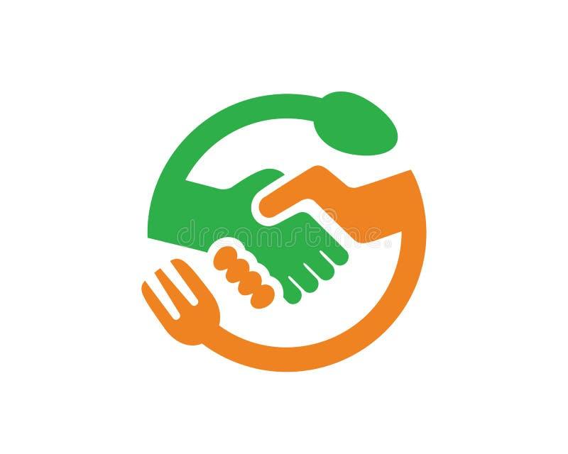Lebensmittel-Abkommen Logo Template Design Vector, Emblem, Konzept des Entwurfes, kreatives Symbol, Ikone stock abbildung
