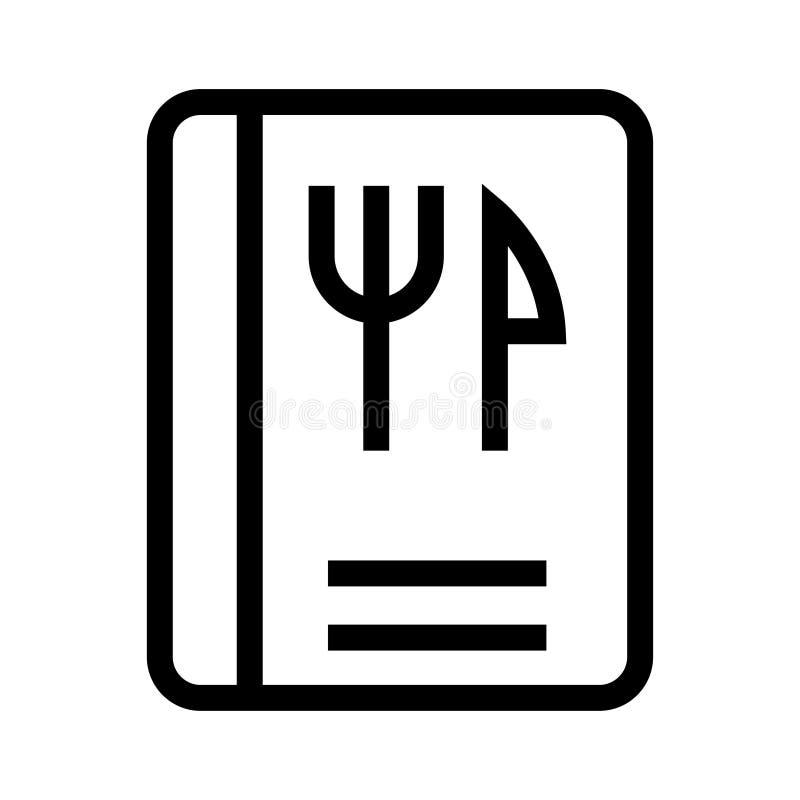 Lebensmittel-Buchlinie ico lizenzfreie abbildung