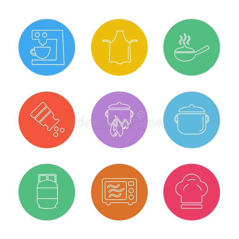 Lebensmittel, die Gesundheit, gesund, Mahlzeit, Getränke, ENV-Ikonen stellte Vektor ein lizenzfreie abbildung