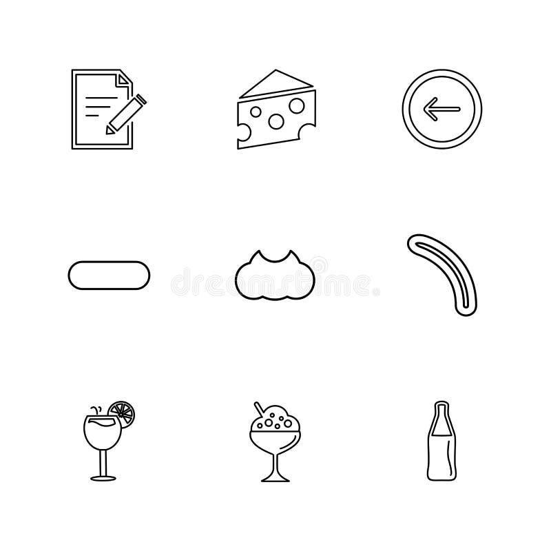Lebensmittel, die Gesundheit, nutrious, gesund, ENV-Ikonen stellte Vektor ein stock abbildung