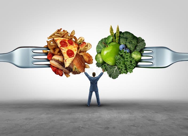 Lebensmittel-Gesundheits-Entscheidung lizenzfreie abbildung