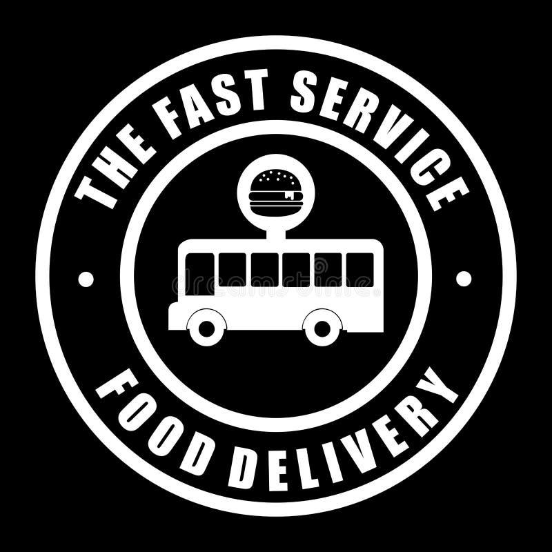 Lebensmittel-Lieferungs-Design lizenzfreie abbildung