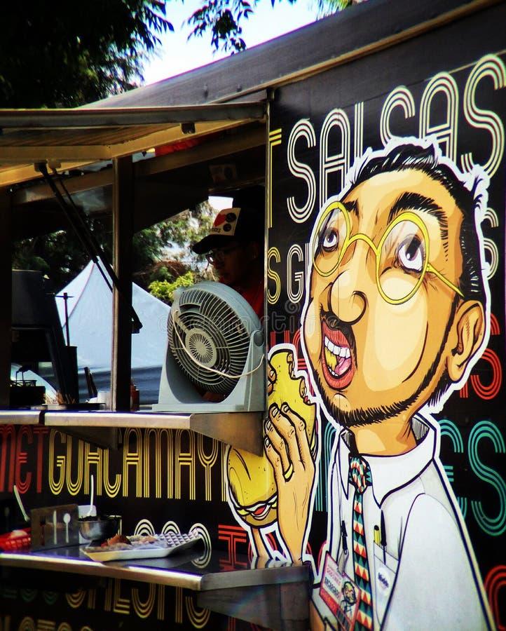 Lebensmittel-LKW angemessen in Mexiko City lizenzfreies stockbild
