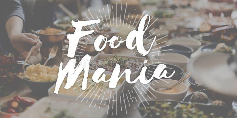 Lebensmittel-Mania Foodie Food Lover Gourmet-Küche-geschmackvoller köstlicher Betrug lizenzfreie stockbilder