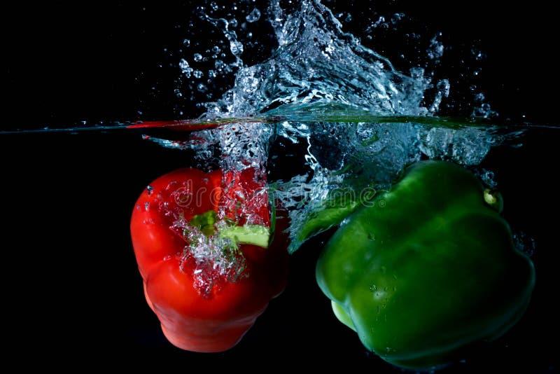 Lebensmittel-Spritzen stockbilder