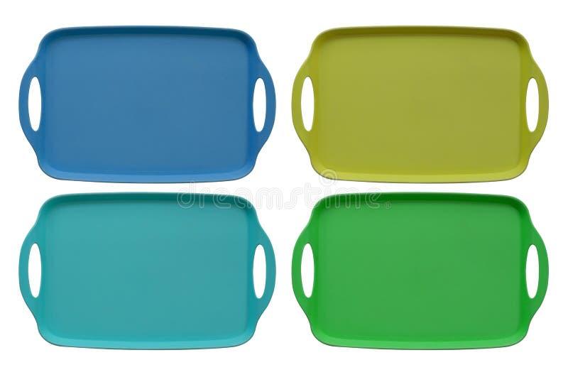 Lebensmittel Tray Multi Color lizenzfreies stockfoto