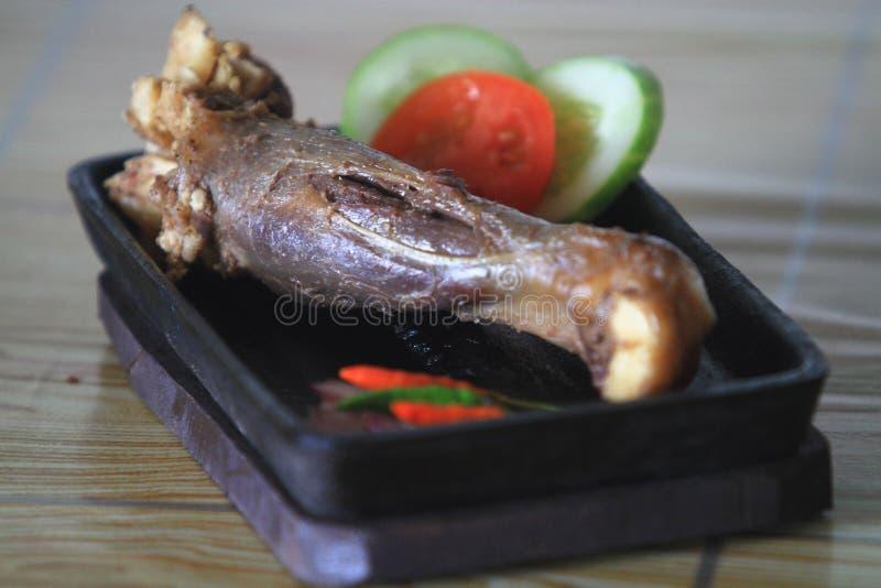 Lebensmittel verarbeitete Fleisch-Ziegen stockfotografie