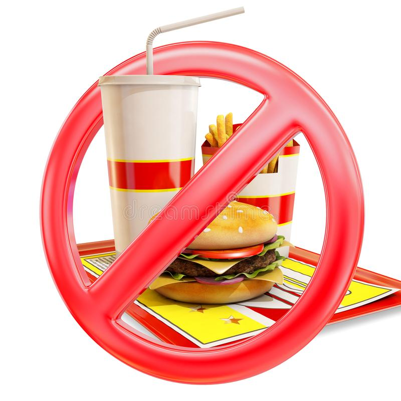 Lebensmittel verbotene Ikone stock abbildung
