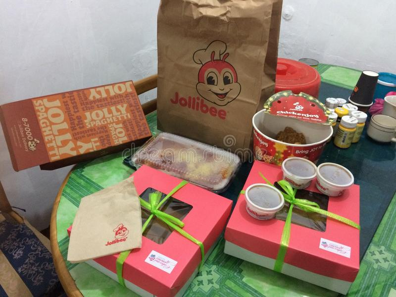 Lebensmittel von jolibee lizenzfreie stockfotos