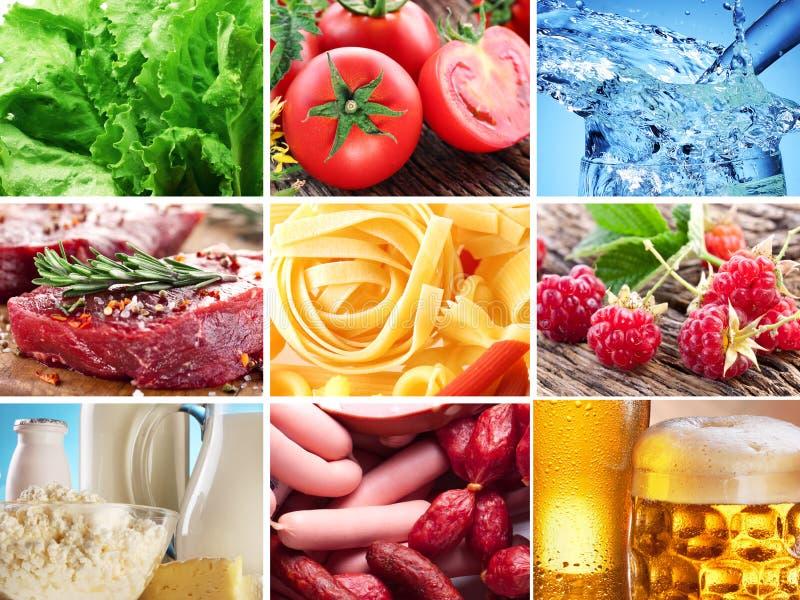 Lebensmittelcollage. lizenzfreies stockbild